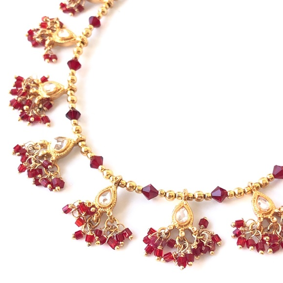 Small Indian Jewelry Gold & Red